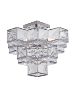 Glacier 5lt Acryclic Semi Flush - Chrome