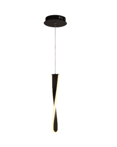 Paddle 1lt Led Pendant - Black