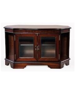 High Quality Corner TV Stand - with 2 Front Glass Doors