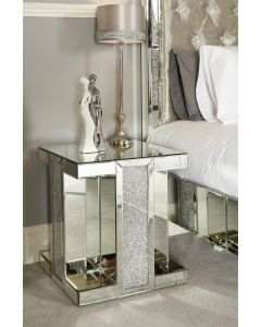Milano Mirror Square End Table