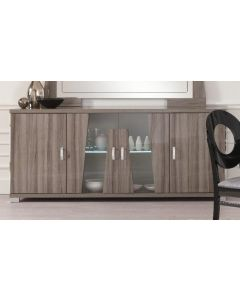 Glamour Grey 4 Door Sideboard