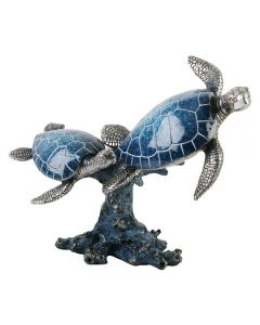 TWO TURTLES FIGURINE