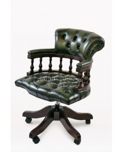 Chesterfield Captains Chair in Green