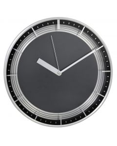 Black And Silver Twin Wall Clock