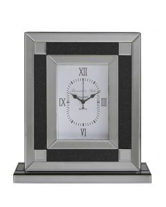 Smoked Milano Mirror Table Clock