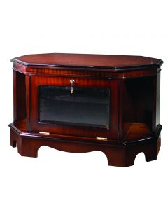 High Quality TV Corner Stand with Glass Front Door
