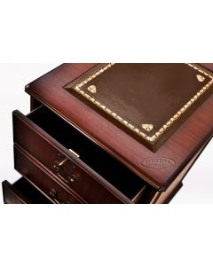 Filing Cabinet Brown Leather Top