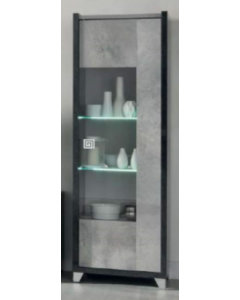 San Martino Hilton 1 Door Display Glass Cabinet