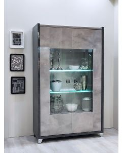 Hilton Two Door Display Cabinet with LED Light