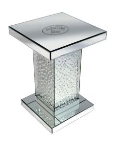 Rhombus Silver Mirrored Side Table