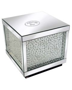 Rhombus Silver Mirrored Table