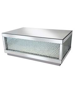 Rhombus Silver Mirrored Coffee Table - Large