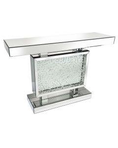 Rhombus Silver Mirrored Console Table