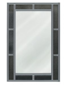 Smoked Milano Crystal Brick Effect Wall Mirror