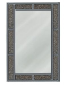 Smoked Copper Milano Crystal Brick Effect Wall Mirror