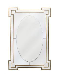Gold And Silver Wall Mirror