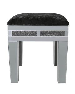 Smoked Milano Mirror Stool