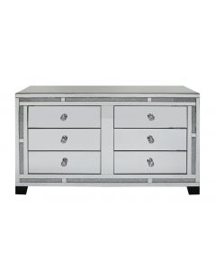 Milano Mirror 6 Drawer Cabinet