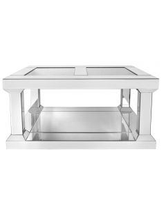 Milano Pillar Leg Mirror Coffee Table
