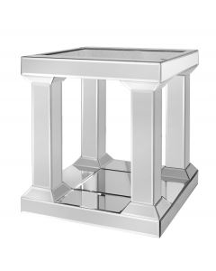 Milano Pillar Leg Mirror End Table