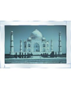 Glittering Taj Mahal on Mirrored Frame