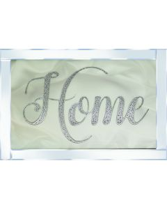 Silver Home on Mirrored Frame