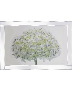Snow cap summer on Mirrored Frame
