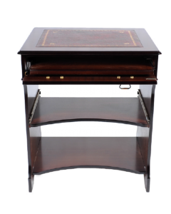 Leather Top Small Computer Desk