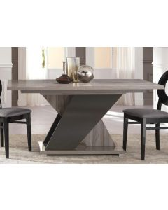 Glamour Grey Walnut 160-200cm Extending Dining Table San Martino