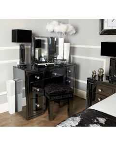Smoked Milano Mirror 7 Drawer Dressing Table