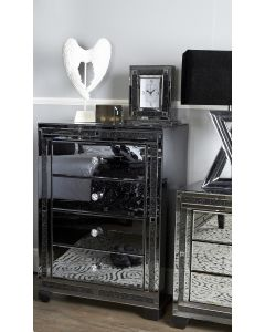 Smoked Milano Mirror 4 Drawer Cabinet